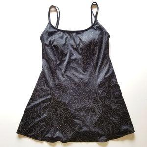 Croft & Barrow Black Swim Dress sz 12